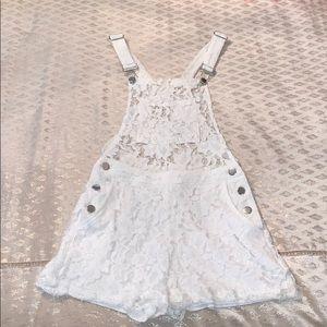 Signature8 White Lace Overalls